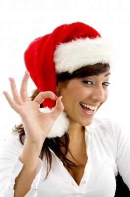 Christmas white smile